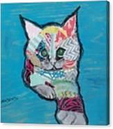 Green Eyed Love Bug Canvas Print