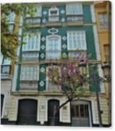 Green Facade Cadiz Canvas Print