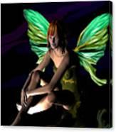 Green Fairie Canvas Print