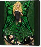 Green Fairy Of Poison Canvas Print