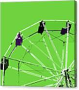 Green Ferris Wheel Canvas Print