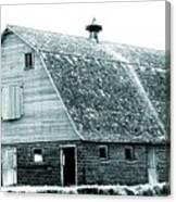 Green Field Barn Canvas Print