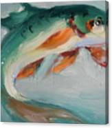 Green Fish Canvas Print