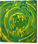 Green Forest Swirl Canvas Print