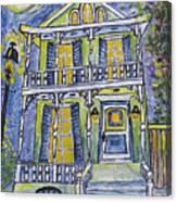 Green Garden District Home Canvas Print