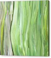 Green Gray Organic Abstract Art For Interior Decor Vi Canvas Print