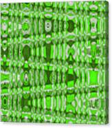 Green Heavy Screen Abstract Canvas Print