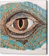 Green Iguana Eye Canvas Print