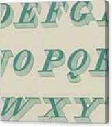 Green Italic Font Canvas Print