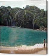 Green Lagoon Canvas Print