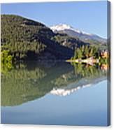 Green Lake Whistler Panorama Canvas Print