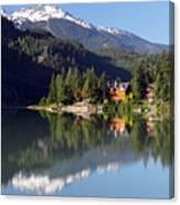 Green Lake Whistler  Canvas Print