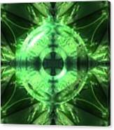 Green Leaf Mild Abstract Canvas Print