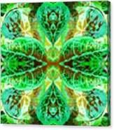 Green Leafmania 3 Canvas Print
