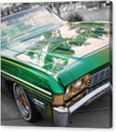 Green Low Rider Canvas Print