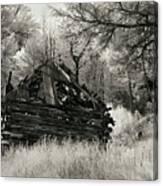 Green Mountain Cabin Canvas Print