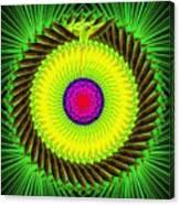 Green Parrot Mandala Canvas Print