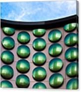 Green Polka-dot Curve Canvas Print