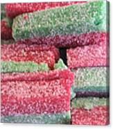 Green Red Sugary Sweet Canvas Print