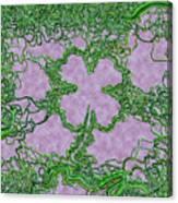 Green Ribbon Shamrock Canvas Print