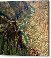 Green River Carving Canyon Canvas Print