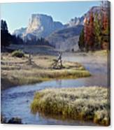 Green River, Frosty Morning Canvas Print