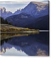 Green River Lake Fly-fisherman Canvas Print
