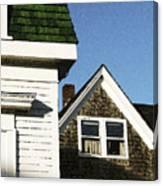 Green Roof Stonington Deer Isle Maine Coast Canvas Print