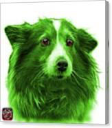 Green Shetland Sheepdog Dog Art 9973 - Wb Canvas Print