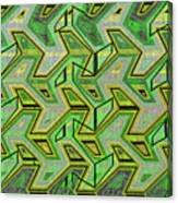 Green Steps Abstract Canvas Print