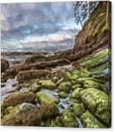 Green Stone Shore II Canvas Print