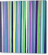 Green Stripe Canvas Print