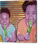 Green-tongued Cousins 2014 Canvas Print