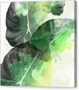 Green Tropical Canvas Print