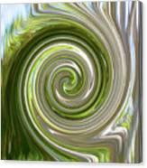 Green Twirl Canvas Print