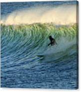 Green Wall Surfer Canvas Print