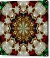 Green White Red Blue Kaleidoscope 1 Canvas Print