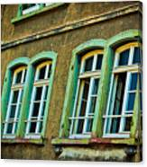 Green Windows Canvas Print