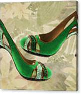 Green With Envy Pumps Canvas Print