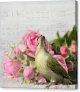 Green Woodpecker Stilllife Canvas Print