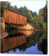 Greenfield Nh Covered Bridge Canvas Print