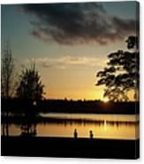 Greenlake Evening Canvas Print