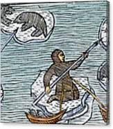 Greenland Eskimos, 1555 Canvas Print