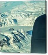Greenland From Flight Level 380 Canvas Print