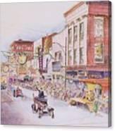 Greensboro Christmas Parade 1960 Canvas Print