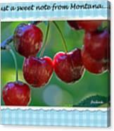 Greeting Card - Cherries #1 Canvas Print