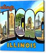 Greetings From Chicago Illinois Canvas Print
