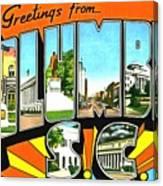 Greetings From Columbia South Carolina Canvas Print