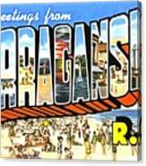 Greetings From Narragansett Rhode Island Canvas Print