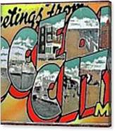 Greetings From Ocean City Canvas Print
